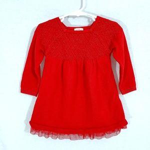 Cat & Jack Red Sweater Dress